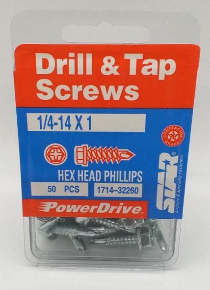 SCREWS DRILL & TAP 1/4-14X1 STAR 50PCS