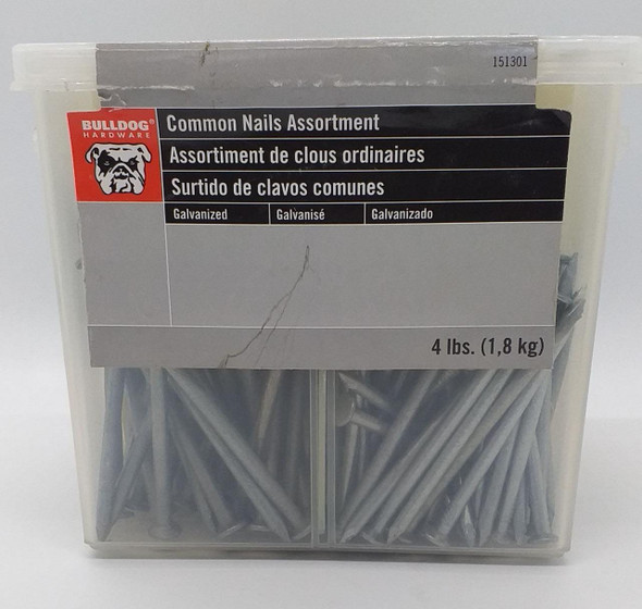 NAIL COMMON BOAT GALVANIZED  BULLDOG 4LBS PACK #151301 ASSORTMENT