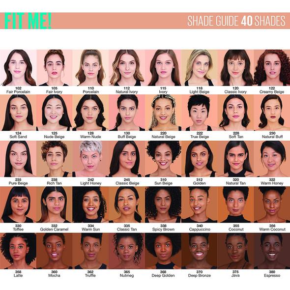 Makeup Foundation Maybelline Fit Me Matte + Poreless Liquid 1 fl. oz. Oil-Free