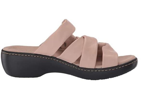 Footwear Clarks Women's Delana Jazz Sandal Blush Leather