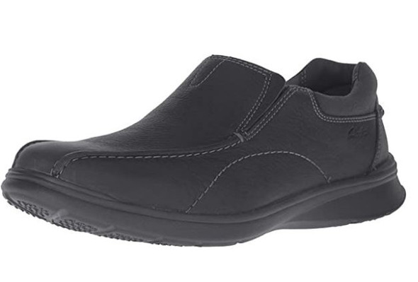 Footwear Clarks Men's Cotrell Step Slip-on Loafer Black Oily