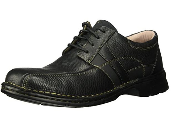 Footwear Clarks Men's Espace Lace-Up Black Oily Leather