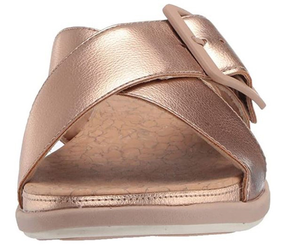 Footwear Clarks Women's Step June Shell Sandal Rose Gold Synthetic