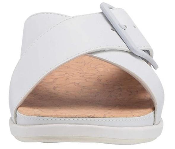 Footwear Clarks Women's Step June Shell Sandal White Synthetic