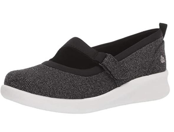 Footwear Clarks Women's Sillian 2.0 Soul Mary Jane Flat Black Textile Combi