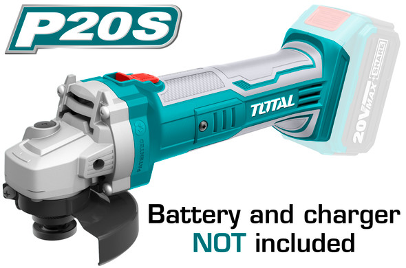 ANGLE GRINDER TOTAL UTAGLI1151 CORDLESS LITHIUM-ION BATTERY 20V