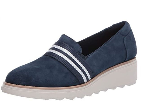 Footwear Clarks Women's Sharon Bay Loafer Navy Suede