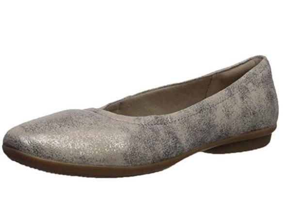 Footwear Clarks Women's Gracelin Vail Ballet Flat Pewter Suede