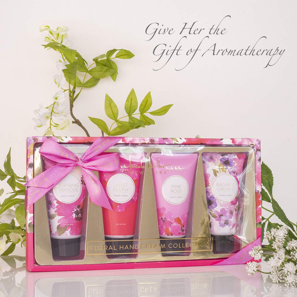 Lotion Set Nicole Miller 4Pcs Floral Hand Cream Set, Moisturizer Gift Set