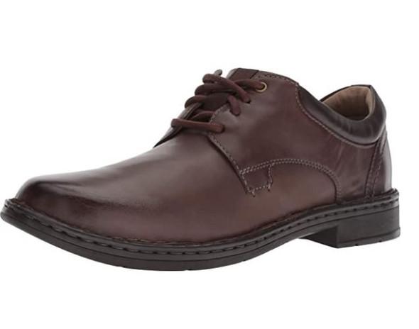 Footwear Clarks Men's Gadson Plain Oxford Dark Brown Leather