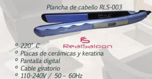 HAIR STRAIGHTEN IRON RLS-003 REAL SALOON