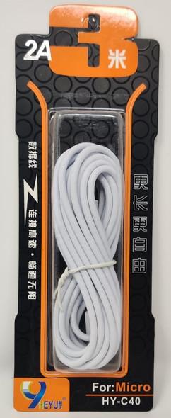 CABLE USB HEYU HY-C40 3M 2A MICRO 3.0