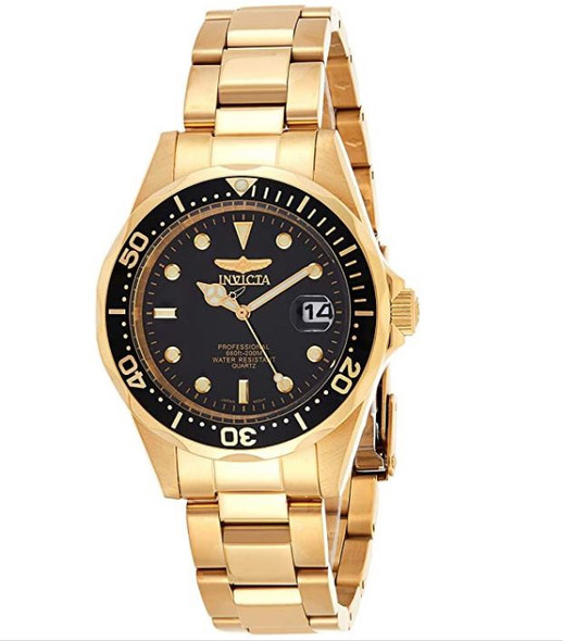 Watch Men Invicta 8936 Pro Diver Collection 23k Gold Plated