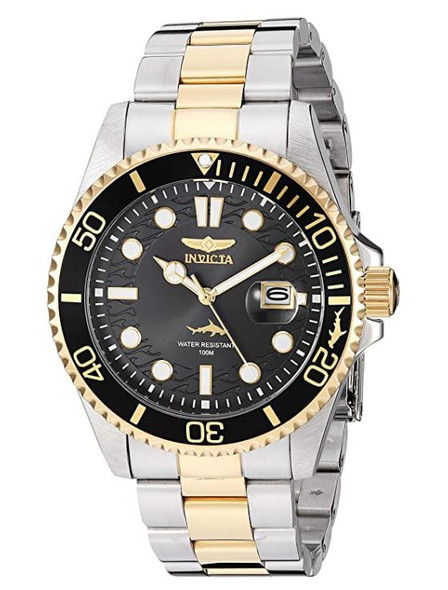 Watch Men Invicta Pro Diver Quartz with Stainless Steel Strap, Two Tone, 22 30023
