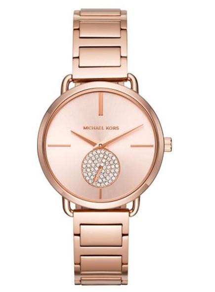Watch Michael Kors Women's Portia Watch- Three Hand Quartz Movement Wrist Watch with Second Hand subdial