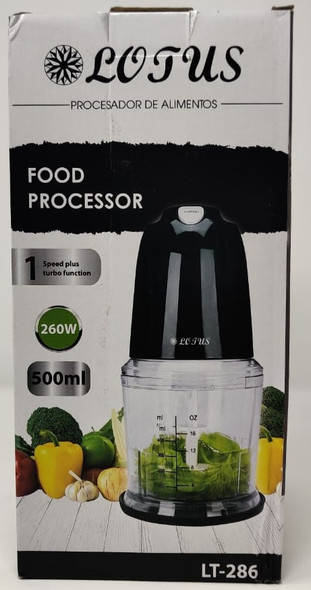 MINI FOOD CHOPPER PROCESSOR LOTUS LT-286 260W 500ML 1SPEED