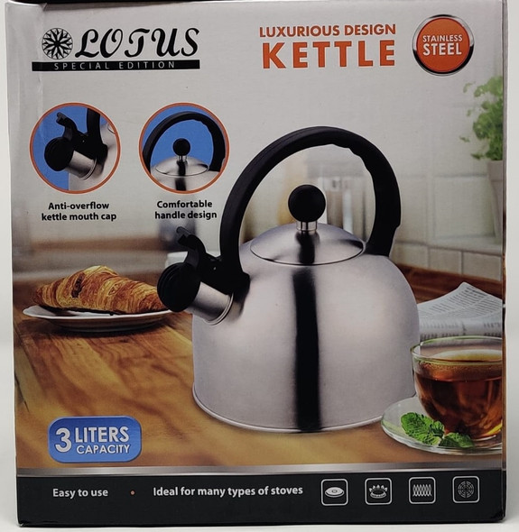 KETTLE LOTUS KPL-515 3L STAINLESS STEEL NON ELECTRIC