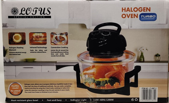 HALOGEN OVEN LOTUS TURBO LT-4567-2 1200W 12L