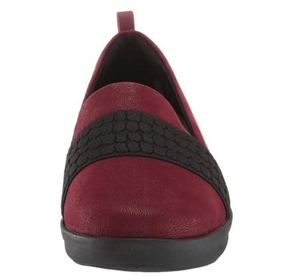 Footwear Clarks Women Ayla Sloane Loafer Maroon Synthetic Nubuck