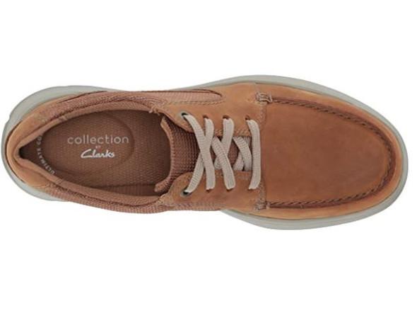 Footwear Clarks Men's Cotrell Lane Sneaker Tan Combi Leather