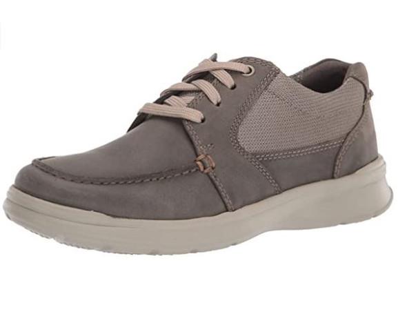 Footwear Clarks Men's Cotrell Lane Sneaker Olive Combi Leather