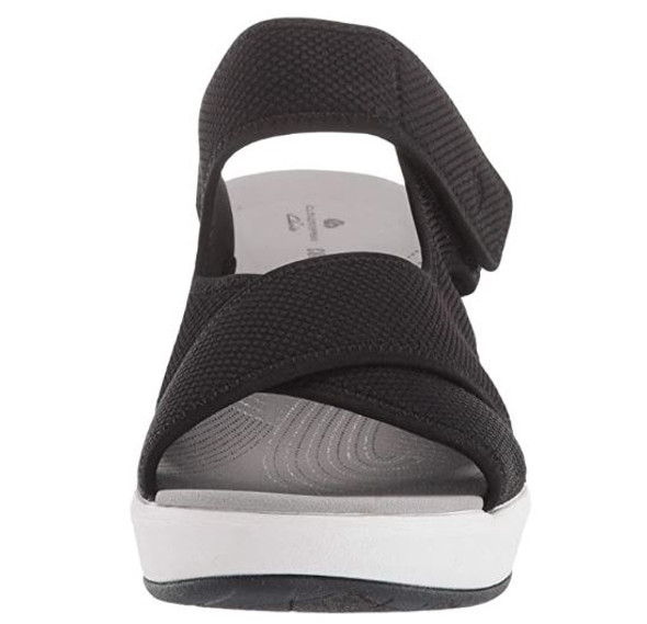 Footwear Clarks Women's Step Cali Wave Sandal Black Textile