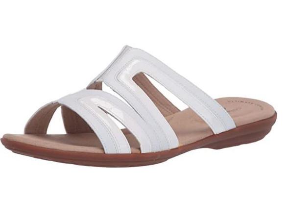 Footwear Clarks Women's Ada Lilah Flat Sandal White Combi Leather/Synthetic