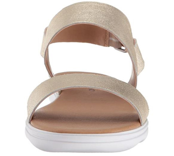 Footwear Lucky Brand Womens Madgey Open Toe Casual Slide Sandals Washed Gold