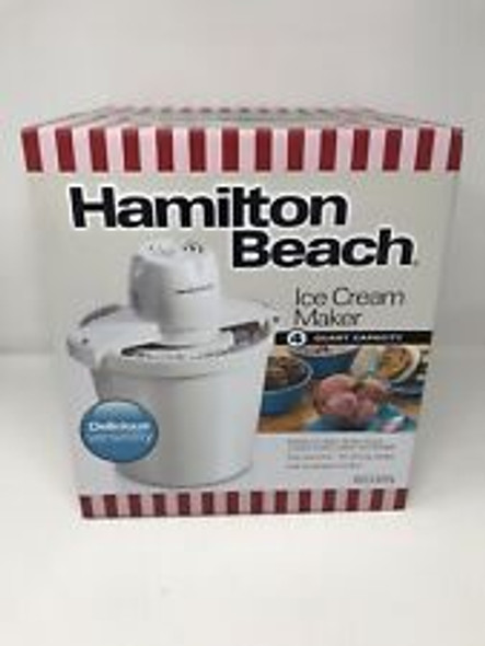 ICE CREAM MAKER HAMILTON BEACH 68330N 4L