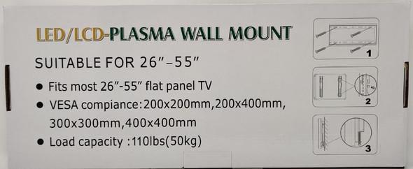 """TV WALL BRACKET 26""""-55"""" 237787 LED LCD PDP HOMESTAR"""