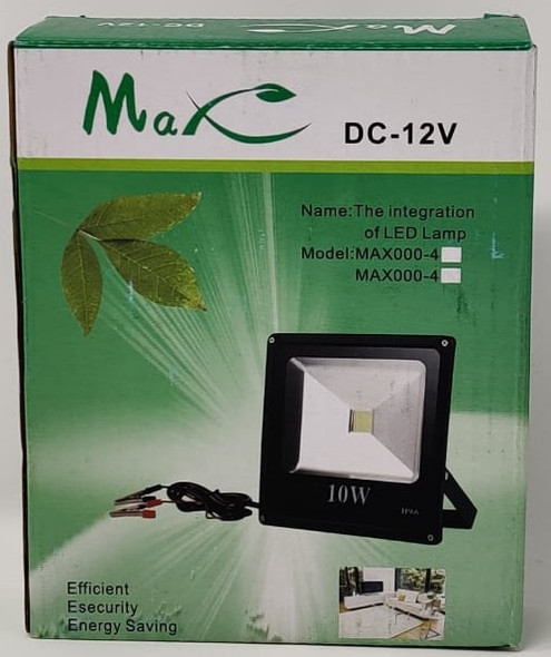 LAMP LED FLOOD 12V 10W IP66 MAX DC-12V
