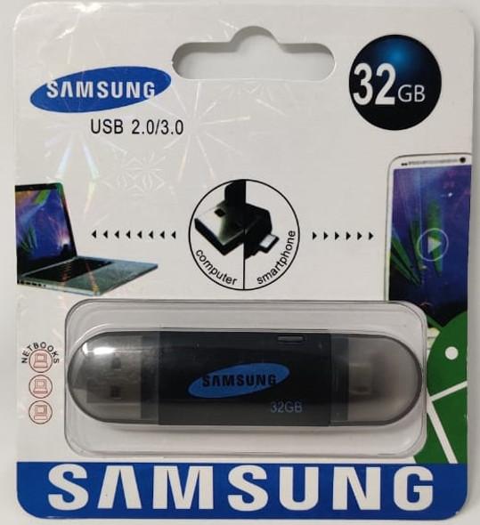 COMPUTER FLASH DRIVE 32GB USB 2.0/3.0 USB & MICRO USB PORTS