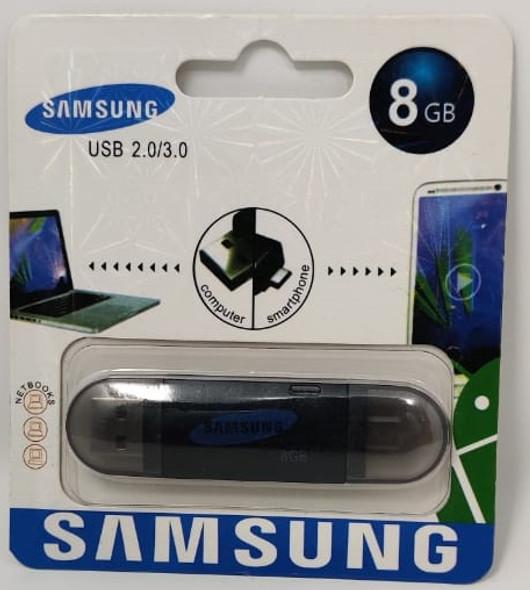 COMPUTER FLASH DRIVE 8GB USB 2.0/3.0 USB & MICRO USB PORTS