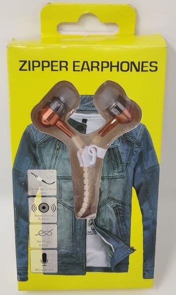 HEADPHONE WITH MIC ZIPPER YELLOW BOX