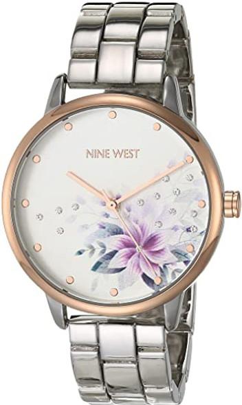 Watch Nine West Women's Crystal Accented Bracelet