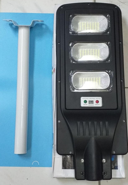 """SOLAR LIGHT 90W TRIPLE PRIVATE STREET LAMP WITH REMOTE AND METAL POLE"""""""