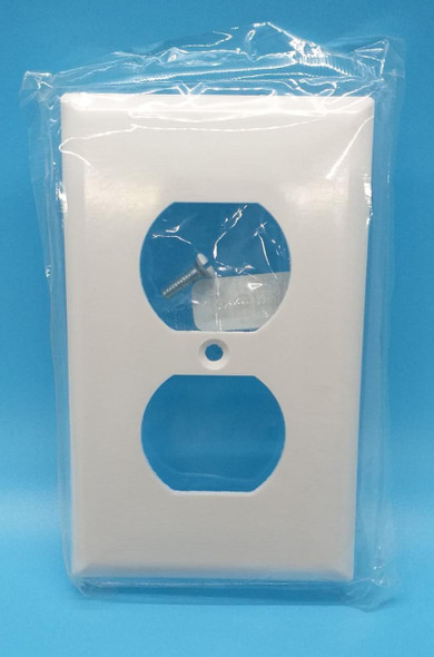 COVER FOR DOUBLE OUTLET 2X4 2132W COOPER WHITE