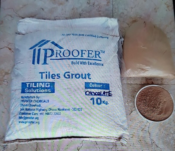 TILE GROUT PROOFER CHOCOLATE 10KG/22LBS