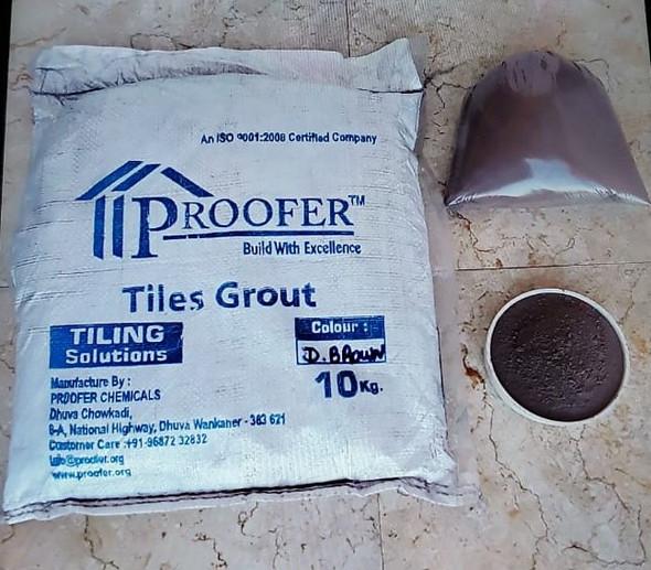 TILE GROUT PROOFER DARK BROWN 10KG/22LBS