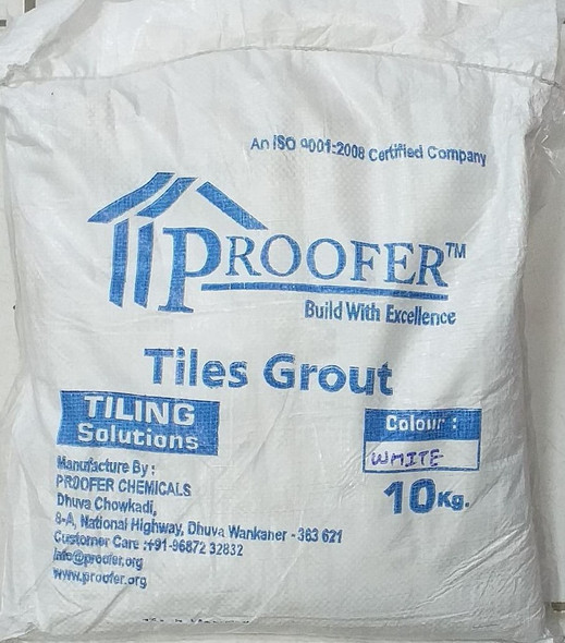 TILE GROUT PROOFER WHITE 10KG/22LBS