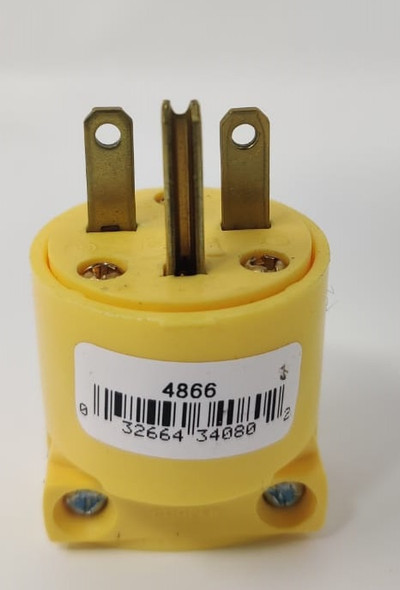 PLUG 3 PIN COOPER 4866-BOX YELLOW 250V 15A 6-15P