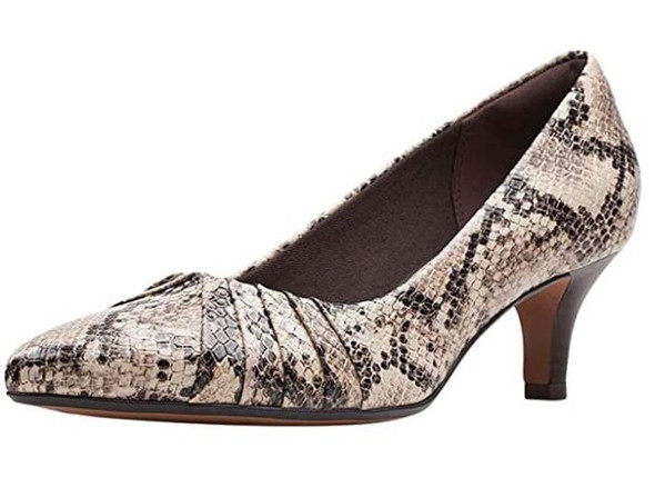 Footwear Clarks Women's Linvale Crown Pumps Taupe Snake Synthetic