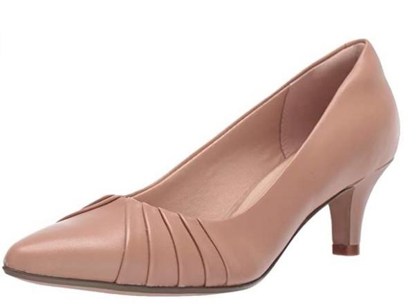 Footwear Clarks Women's Linvale Crown Pumps Praline Leather