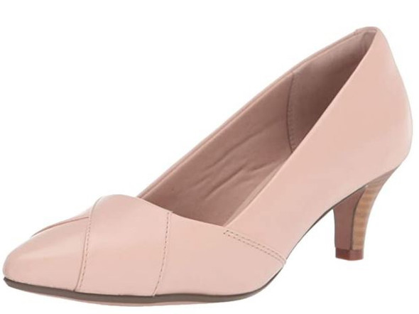 Footwear Clarks Women's Linvale Heeled Shoes Blush Leather