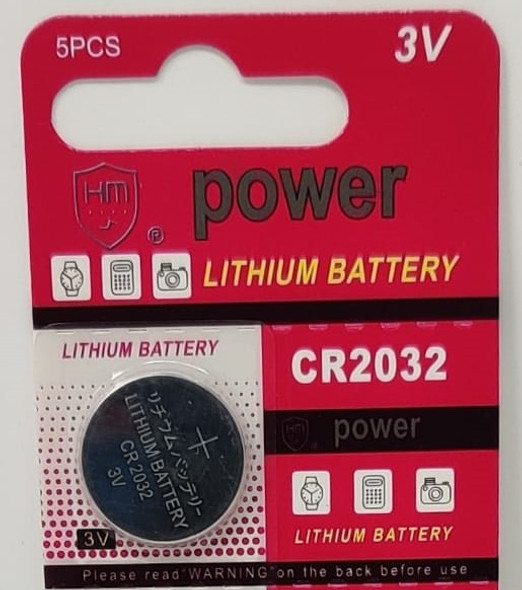 BATTERY LITHIUM CR2032 COIN HM POWER SOLD EACH