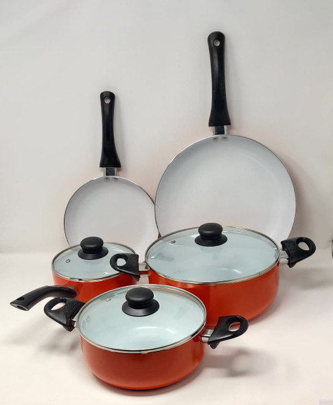 POT SET 8PCS BISTRO L7530032 ALUMINUM COOKWARE