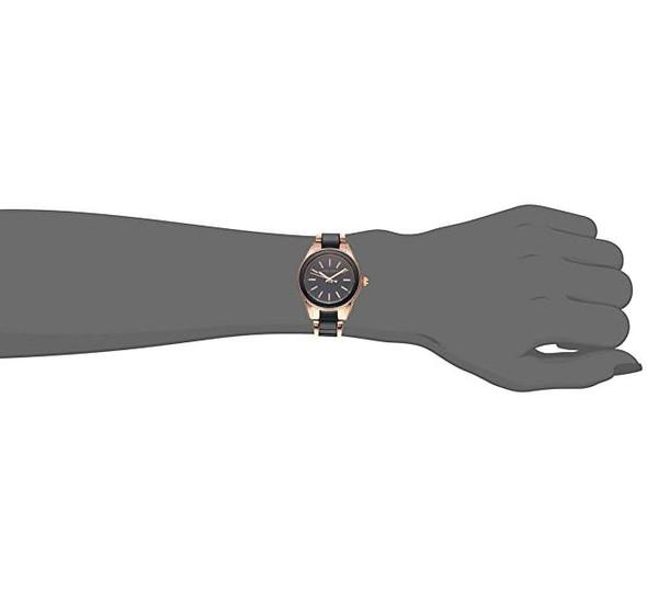 Watch Women Anne Klein Resin Wristwatch AK/3212NVRG