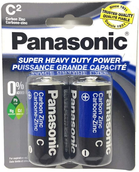 BATTERY PANASONIC SIZE C HEAVY DUTY X 2PC PK