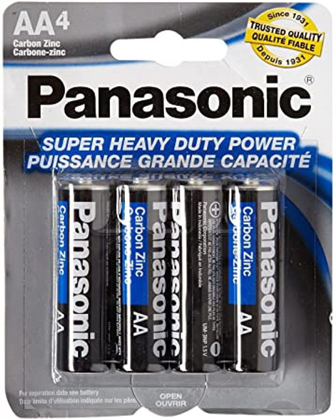 BATTERY PANASONIC SIZE AA HEAVY DUTY X 4PC PK