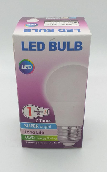 BULB LED 5W 340-360LM E27 85-265V SUPER BRIGHT PURPLE BOX